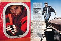 Ultimate Graveyard Mojave Desert - Robert Pattinson Fashion Photoshoot for Luomo Vogue Italia Magazine - Plane Shell and Post-Apocalyptic Cars