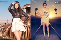 Ultimate Graveyard Mojave Desert Shoot Location - with Kendall Jenner & Kylie Jenner Fashion Photoshoot by Nick Saglimbeni for WMB 3D Magazine - Rusted Truck & Train Tracks