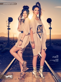 Ultimate Graveyard Mojave Desert Shoot Location - with Kendall Jenner & Kylie Jenner Fashion Photoshoot by Nick Saglimbeni for WMB 3D Magazine on railroad train tracks