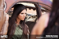 Ultimate Graveyard Mojave Desert Shoot Location - BTS with Kendall Jenner Fashion Photoshoot by Nick Saglimbeni for WMB 3D Magazine in apocalyptic car