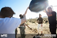 Ultimate Graveyard Mojave Desert Shoot Location - BTS with Kendall Jenner Fashion Photoshoot by Nick Saglimbeni for WMB 3D Magazine with Slickforce crew
