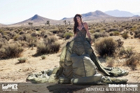 Ultimate Graveyard Mojave Desert Shoot Location - BTS with Kylie Jenner Fashion Photoshoot by Nick Saglimbeni for WMB 3D Magazine - Mojave Desert Landscape
