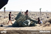 Ultimate Graveyard Mojave Desert Shoot Location - BTS with Kylie Jenner Fashion Photoshoot by Nick Saglimbeni for WMB 3D Magazine - Monica Rose Styling