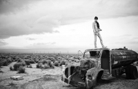 Ultimate Graveyard Mojave Desert Shoot Location - Kim Woo Bin Fashion Photoshoot for W Korea Magazine - Rusted Water Tanker Truck
