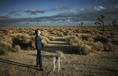 Ultimate Graveyard Mojave Desert Shoot Location - Kim Woo Bin Fashion Photoshoot for W Korea Magazine - Mojave Desert Landscape