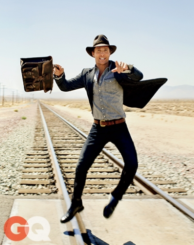 Ultimate Graveyad Mojave Desert Photography & Film Location - Matthew McConaughey Fashion Photoshoot for GQ Magazine Cover - Railroad Train Tracks