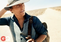 Ultimate Graveyad Mojave Desert Photography & Film Location - Matthew McConaughey Fashion Photoshoot for GQ Magazine Cover - Long Desert Dirt Road