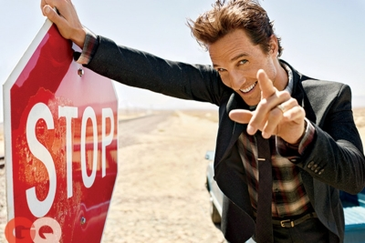 Ultimate Graveyad Mojave Desert Photography & Film Location - Matthew McConaughey Fashion Photoshoot for GQ Magazine Cover - Stop Sign