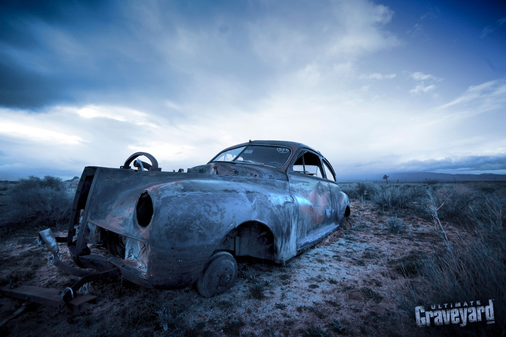 Ultimate Graveyard Mojave California Desert Film Location with vintage abandoned apocalyptic cars