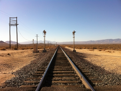UltimateGraveyard Mojave Desert Filming & Photography Location - Mountain Views & Desert Train Tracks