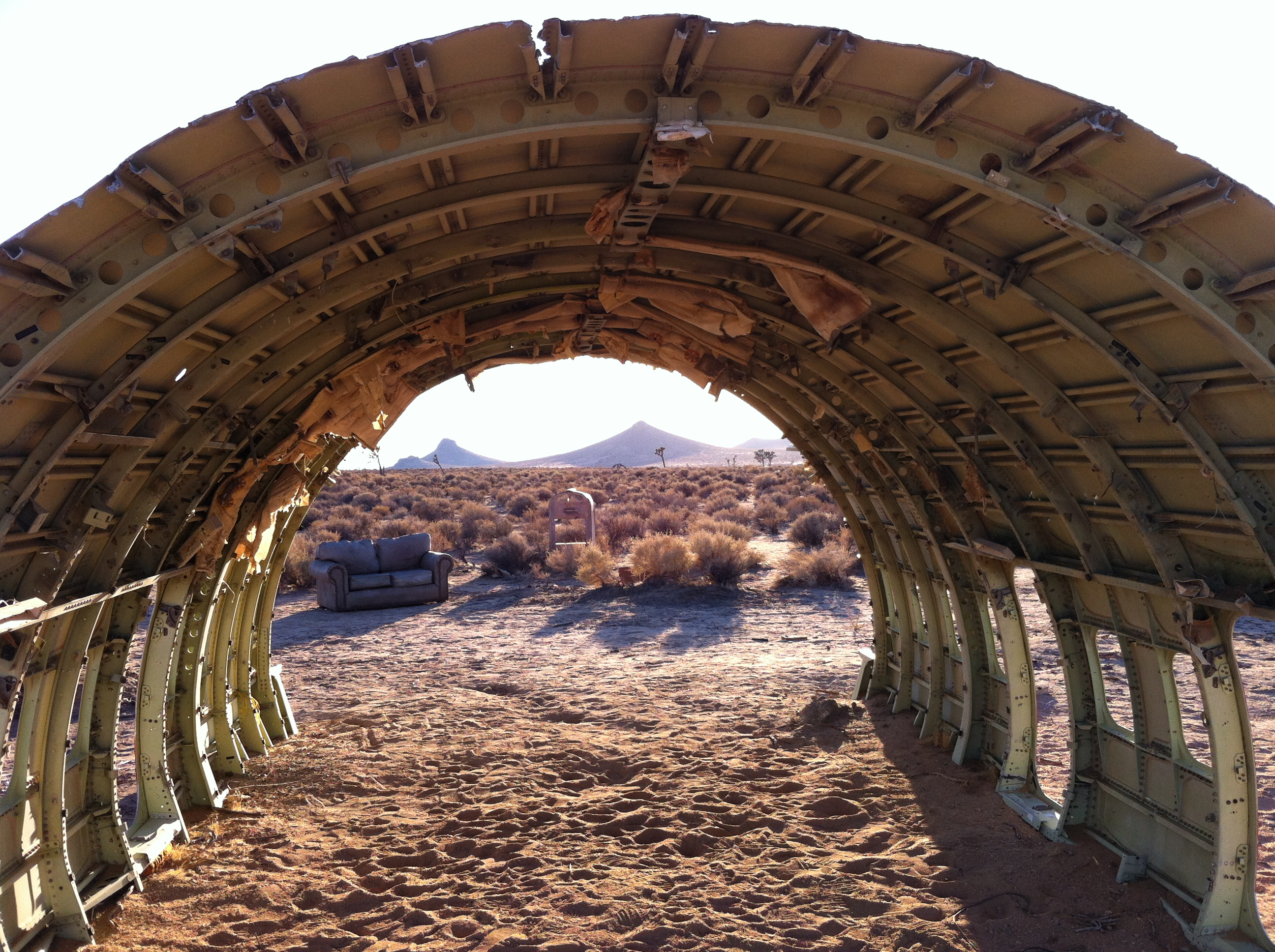UltimateGraveyard Mojave Desert Photography & Film Location - Wrecked Plane Shell