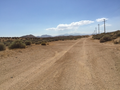 UltimateGraveyard Mojave Desert Filming & Photography Location - Long Dirt Road parallel to Train Tracks