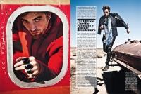 Ultimate Graveyard Mojave Desert - Robert Pattinson Fashion Photoshoot for Luomo Vogue Italia Magazine - Plane Shell and Post-Apocalyptic Cars
