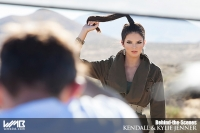 Ultimate Graveyard Mojave Desert Shoot Location - BTS with Kendall Jenner Fashion Photoshoot by Nick Saglimbeni for WMB 3D Magazine with desert landscape