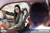 Ultimate Graveyard Mojave Desert Shoot Location - BTS with Kendall Jenner & Kylie Jenner Fashion Photoshoot by Nick Saglimbeni for WMB 3D Magazine on decaying car