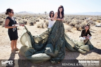 Ultimate Graveyard Mojave Desert Shoot Location - BTS with Kendall Jenner & Kylie Jenner Fashion Photoshoot by Nick Saglimbeni for WMB 3D Magazine - Monica Rose Styling