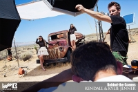 Ultimate Graveyard Mojave Desert Shoot Location - BTS with Kendall Jenner & Kylie Jenner Fashion Photoshoot by Nick Saglimbeni for WMB 3D Magazine on post-apocalyptic truck