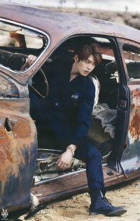 Ultimate Graveyard Mojave Desert Shoot Location - Kim Woo Bin Fashion Photoshoot for W Korea Magazine - Post-Apocalyptic Car