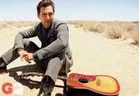 Ultimate Graveyad Mojave Desert Photography & Film Location - Matthew McConaughey Fashion Photoshoot for GQ Magazine Cover - Desert Dirt Road & Guitar