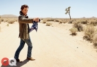 Ultimate Graveyad Mojave Desert Photography & Film Location - Matthew McConaughey Fashion Photoshoot for GQ Magazine Cover - Desert Dirt Road & Joshua Trees