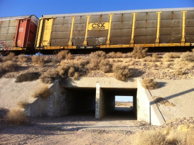 UltimateGraveyard Mojave Desert Filming & Photography Location - Cement Underpass & Railroad Trains