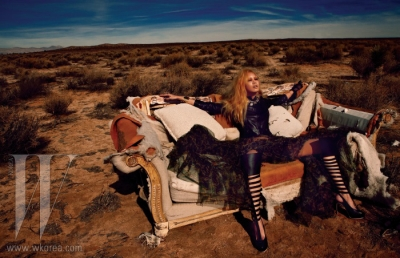 Ultimate Graveyard Mojave Desert Shoot Location - Fashion Photoshoot for W Korea Magazine March 2013 - Ripped Couch