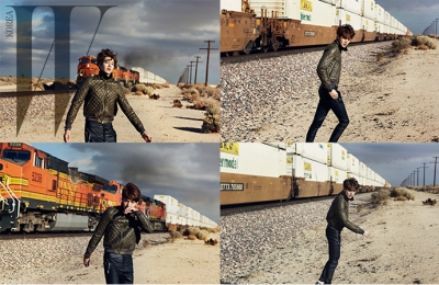 Ultimate Graveyard Mojave Desert Shoot Location - Kim Woo Bin Fashion Photoshoot for W Korea Magazine - Railroad Trains