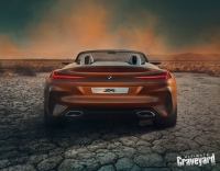 UltimateGraveyard: BMW Z4 Concept Car Back - Cracked Earth - Photo by Agnieszka Doroszewicz